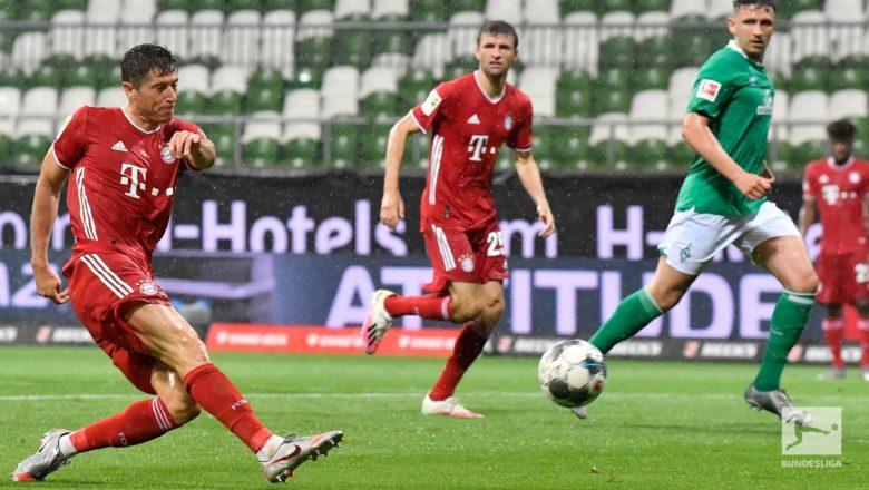 Munich 1-0 Bremen: Kwallon Lewandowski tasa Bayern Munich sun lashe kofin gasar Bundlesliga karo na takwas a jere