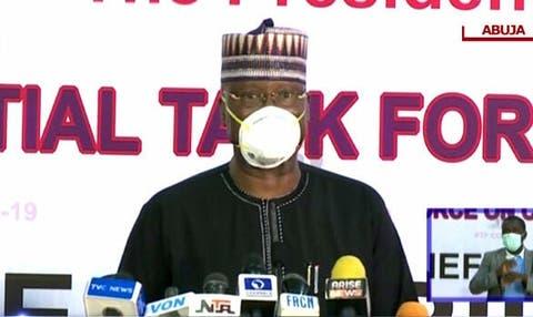 'Kashi 63% na sinadaran tsaftar hannu don kariya daga cutar Korona da a ke amfani dasu a Abuja basu da rijistar NAFDAC >> Boss Mustapha