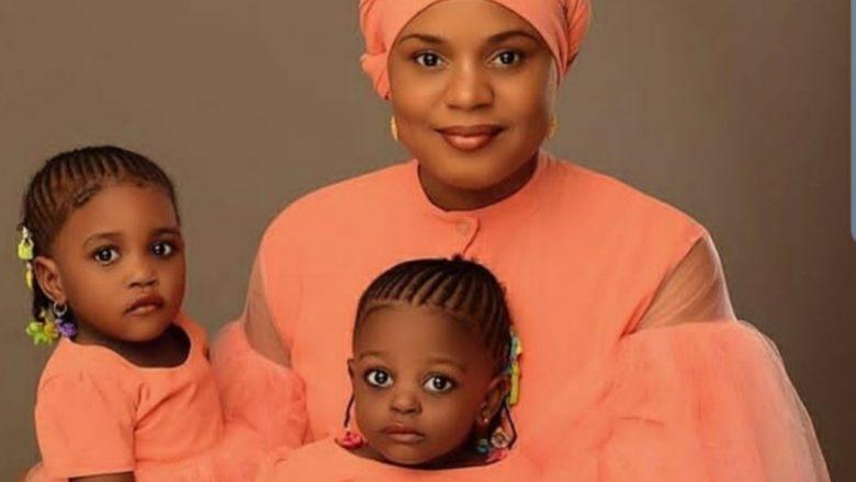 Hotunan Tsohuwar tauraruwar fina-finan Hausa, Fati Ladan da 'ya'yanta