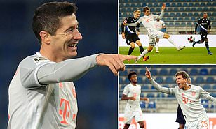 Arminia 1-4 Bayern Munich, Hoffenheim 0-1 Dortmund: Lewandowski da Mueller sun zira kwallaye hudu yayin da Resu yaci ya ciwa Dortmund guda