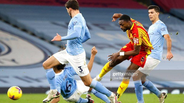 Dan wasan Manchester City, Ruben Dias yayi kuskuren zira kwallo a ragar kungiyar tashi yayin da City ta kara barar da maki a gasar Premier League