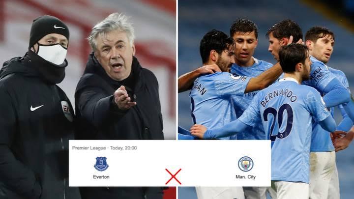 Premier League: An dakatar da wasa tsakanin Everton da Manchester City