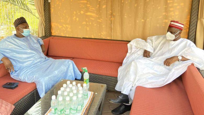 Tsohon Gwamnan Zamfara Ahmad Sani Yarima ya ziyarci Kwankwaso