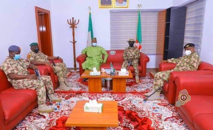 Ji abinda Gwamna Zulum ya gayawa Sabbin shuwagabannin tsaro da suka je ziyara Borno