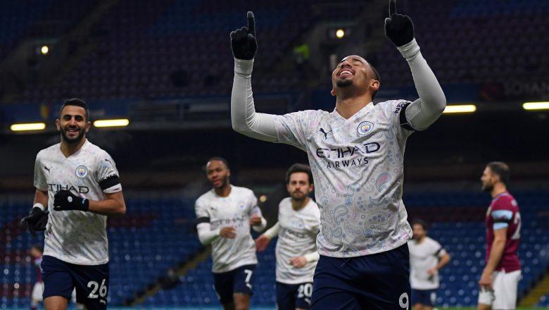 Manchester City ta zamo kungiyar Premier League ta farko tun bayan Arsenal data ci wasanni 13 a jere, bayan data doke Burnley daci 2-0