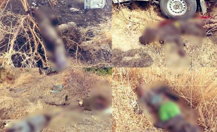 Graphic: Hotunan gawarwakin 'yan Boko Haram da yawa da Sojojin Najeriya suka kashe a harin da suka kai musu