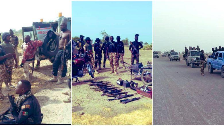 Hotunan Tulin makaman da sojojin Najeriya suka kwato bayan sun kashe fiye da 'yan Boko Haram 40