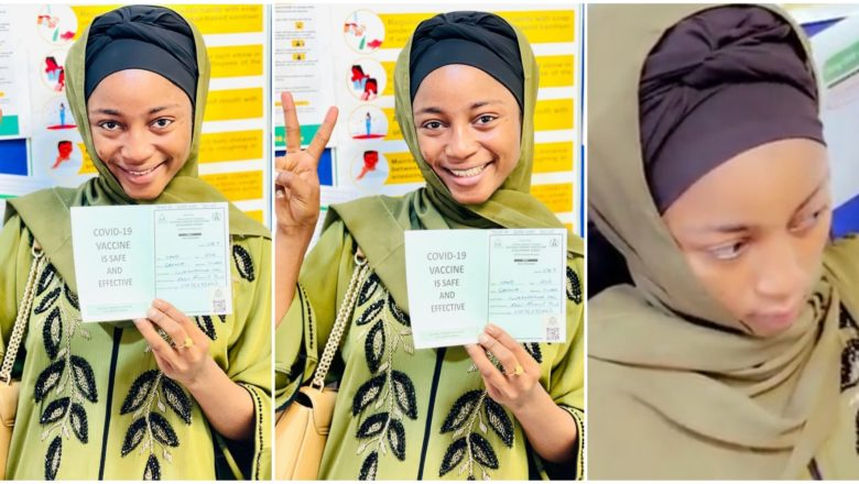 Hotunan Maryam Yahaya ana mata Rigakafin cutar Coronavirus/COVID-19