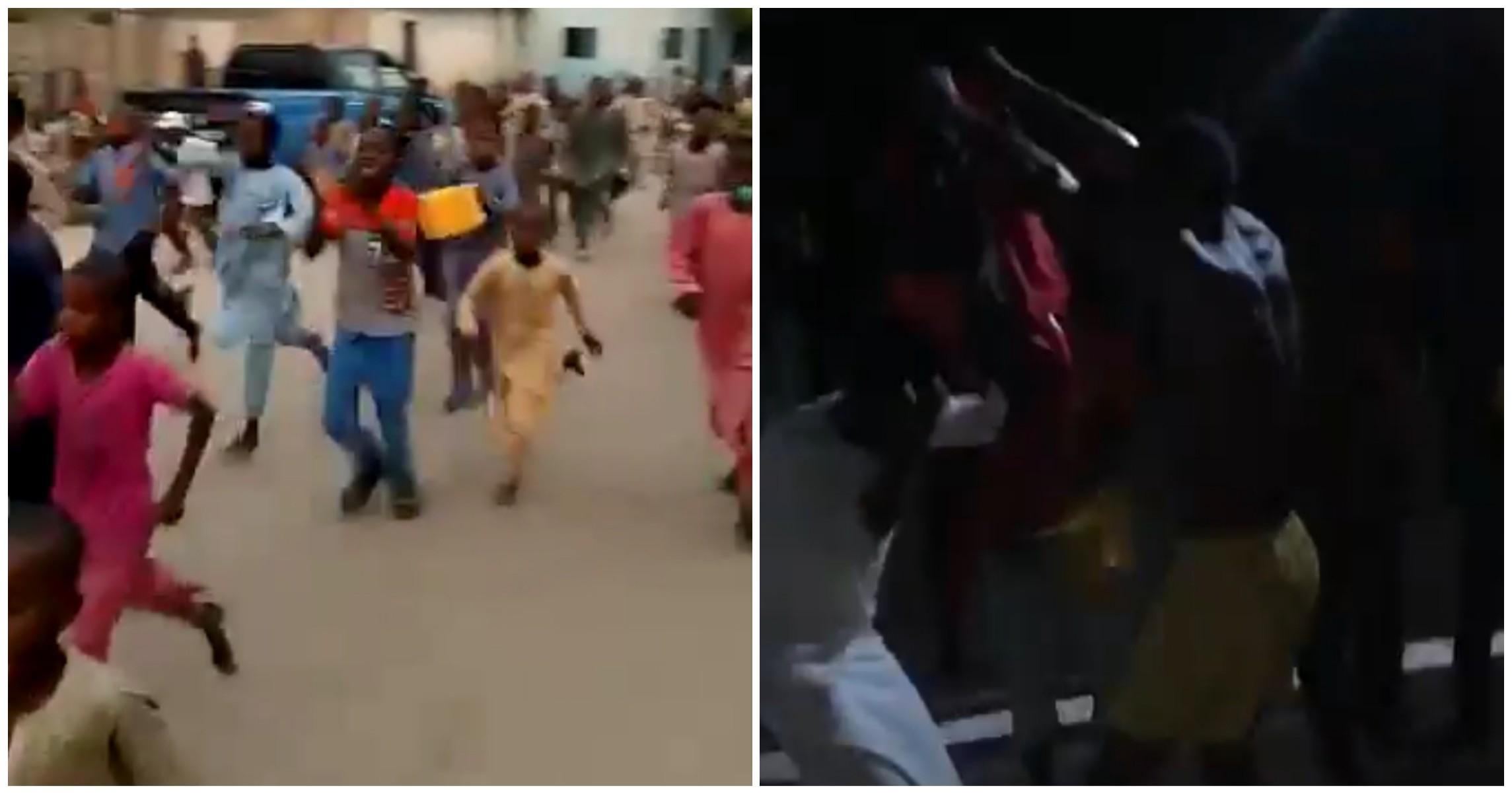 NEPA Oyoyo:Kalli Bidiyon yanda Matasa suka cika Titunan Borno suna murnar dawowar wutar lantarki, wani hadda tube kayan jikinsa, bayan sun shafe watanni 2 cikin duhu