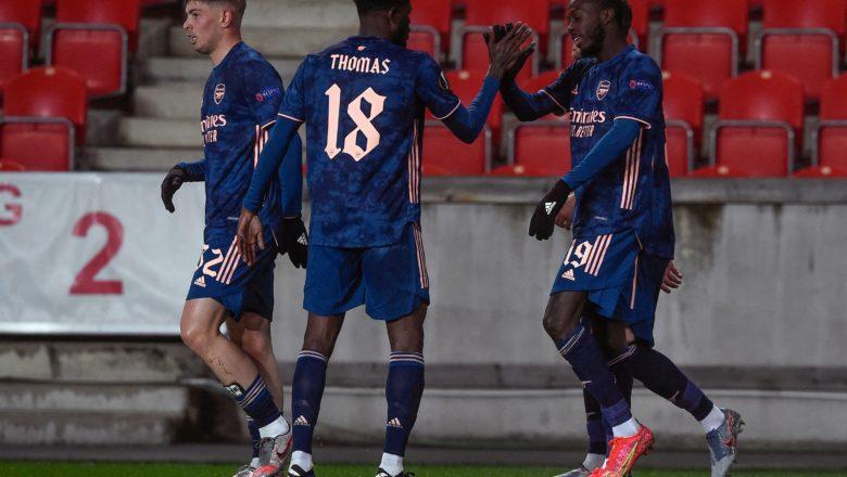 Arsenal ta cancanci buga wasannin kusa dana karshe a gasar Europa bayan ta lallasa Slavia Parague daci 5-1 a wasannin gida da waje