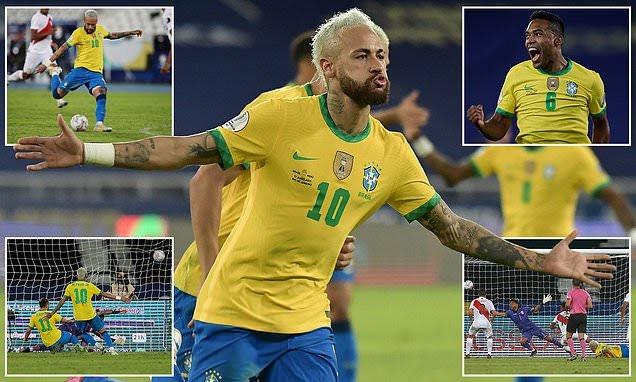 Neymar na daf da zama dan wasan daya fi ciwa Brazil kwallaye bayan taimakawa kasar a wasan data doke Peru daci 4-0