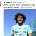 Kungiyar kwallon kafa ta Arsenal tawa Musulmai garsuwar Barka da Sallah