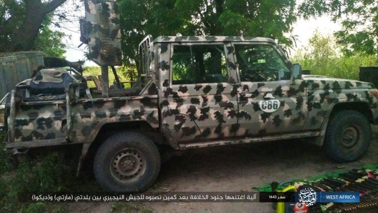 Hotuna da Duminsu: Boko Haram ta nuna hotunan makamai da motocin yaki data kwace daga hannun Sojojin Najeriya